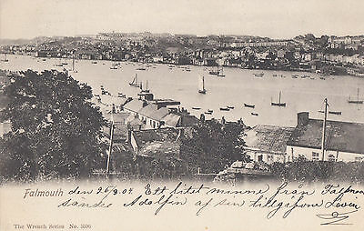 FALMOUTH(Cornwall) : View of Harbour -WRENCH