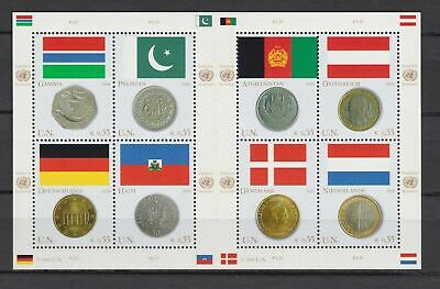 s10795) UNITED NATIONS (Vienna Wien) MNH** 2006, Flags & coins 8v m/s, Gambia