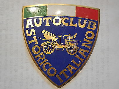 placca smaltata auto club storico italiano 70x75mm