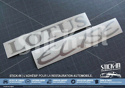 2 Autocollants Stickers Rear Clamshell Lotus Elise S1 decal silver gris argent