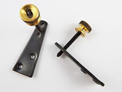 TWO New clock stabilisers brass replacement wall clocks vienna stabiliser parts
