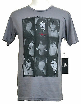 Rock & Republic T-shirt Jim Morrison The Doors Graphic Tee Light Gray Cotton NWT