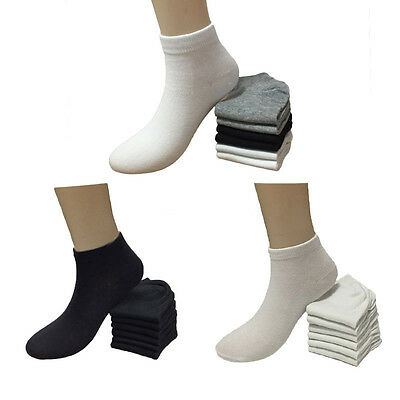 Lot 6-12 Pairs Fashion Casual Womens Low Cut Ankle Socks Girls Size 9-11 New