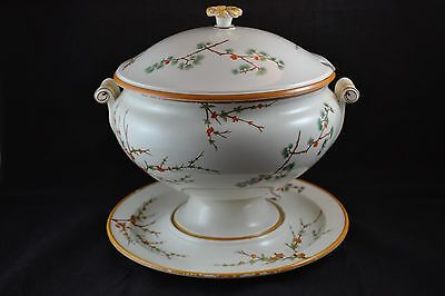 Wedgwood Rare Chinese Sprays Estate Fine Large Footed Tureen Underplate See Desc