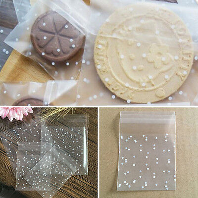 100X Self Adhesive XMAS Cookie Bags Candy Birthday Party Wedding Gift Pouch