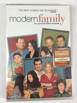 Modern Family: The Complete First Season (DVD, 2010, 4-Disc Set) ~ NEW/SEALED