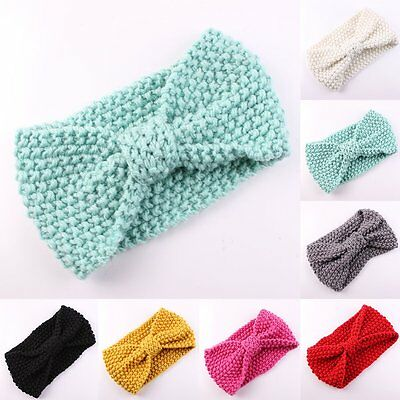 Cute Girl Baby Toddler Crochet Bow Headband Hair Band Accessories