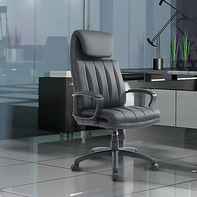 HOMCOM Ergonomic High Back Executive PU Leather Office Chair Height Adjustable