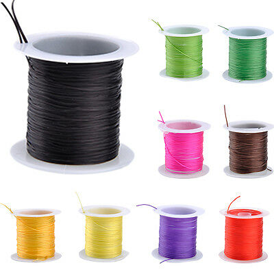 Colorful 0.6mm 20M Stretch Elastic Beading Cord String Thread Spool 2 Roll RO