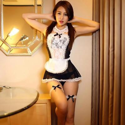 Sexy Women's Maid Costumes Lolita Sex Fancy Dress Uniform Underwear Lingerie B