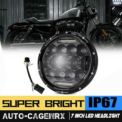 """7"""" LED Headlight Projector Daymaker For Harley Touring Electra Glide Road King"""