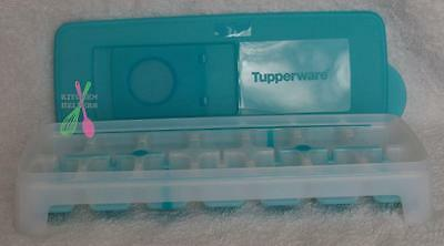 Tupperware Cool Cubes Ice Cube Tray with Silicone Base - Set of 1  -Blue New