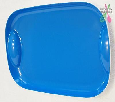 Tupperware Coastal Breeze Blue Large Serving Platter Tray -New