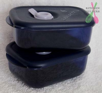 Tupperware Heat N Eat MINI 260ml  Set of 2 - Blue Microwave Containers- New