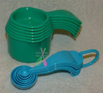 Tupperware Measuring Cups & Measuring Spoons  Blue & Green - Brand New