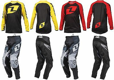 2016 ONE INDUSTRIES YOUTH MOTOCROSS KIT BLACK ATOM PANTS / RAGLAN JERSEY kids