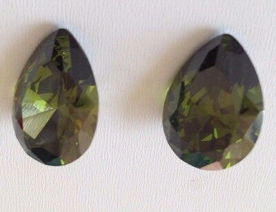 Olive-Pear Cubic Zircon Loose Stones CZ  Lots IF Wholesale USA - AAA