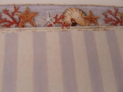 Dolls House Miniature 1:12 Scale Bathroom Coral and Starfish Wallpaper