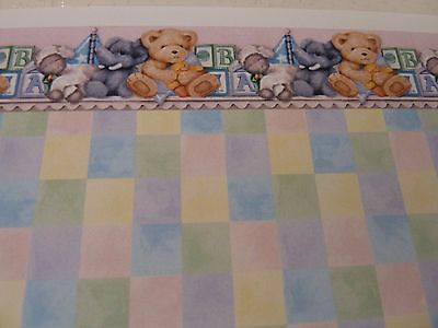 Dolls House Miniature 1:12 Scale Nursery Multi Colour Wallpaper