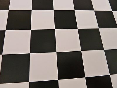 Dolls House Miniature 1:12 Scale Black & White Check Tile Wallpaper