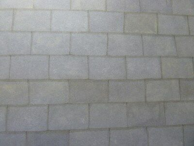 Dolls House Miniature 1:12 Scale Grey Slate Roofing Wallpaper