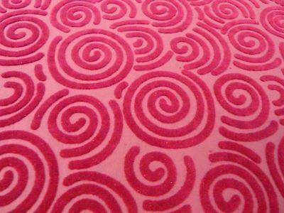 Dolls House Miniature 1:12 Scale Flock Pink Circles Flooring or Wallpaper