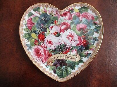 """""""Love is Patient"""" ~ Franklin Mint Limited Edition Heart Plate ~ Mint Condition"""