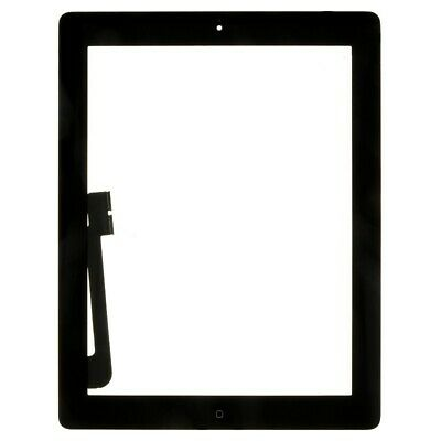 Digitizer Home Button Assembly for Apple iPad 4 Black Front Glass Touch Screen