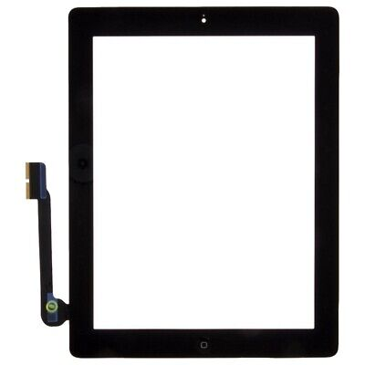 Digitizer Home Button Assembly for Apple iPad 3 Black Front Glass Touch Screen