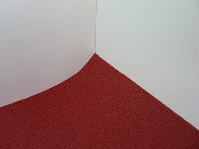 Dolls House Miniature 1:12 Scale Self Adhesive Dark Red Carpet