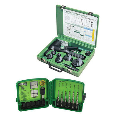 Greenlee 7906SB Hydraulic Punch Driver with Conduit Sized Punches w/ DTAPKIT