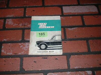 Genuine Fiat 125 Special Owners Manual /instruction  Handbook.  1969