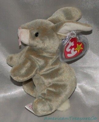 "New 1999 TY BEANIE BABIES Plush 7"" Speckled NIBBLY The BUNNY RABBIT w/TAG ERRORS"