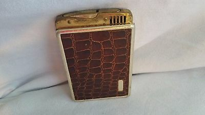 "Vintage Unmarked Gold Colored Metal Cigarette Case With Lighter-4 1/2"" X 3"""