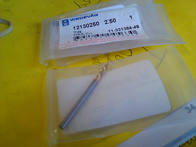 ".0984"" 2.5mm HSCO TiN COATED SCREW MACHINE LENGTH DRILL"
