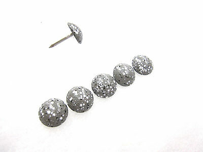 50 Granite grey speckeled upholstery nails 11mm head  1670 Heico stud tacks