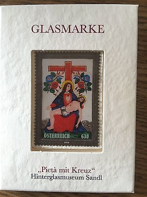 2016 Austria - Pieta and Cross - Glass Stamp - Unique Unusual stamp Mint MNH New