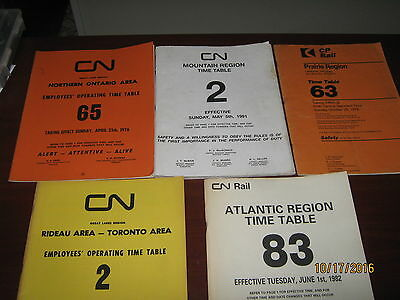 (9) Canadian National Railway and CP Rail Employee Timetables