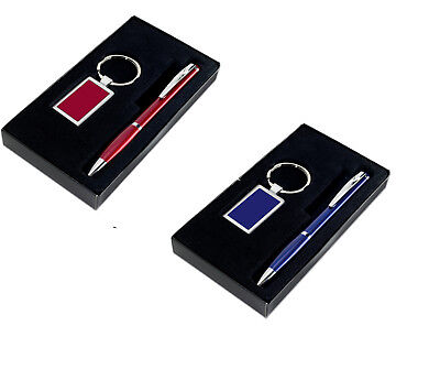 Aluminium Super Lightweight Ball pen and Key Fob Set - Keyring