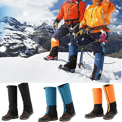 1 Pair Outdoor Hiking Walking Climbing Hunting Snow Legging Gaiters Breathable