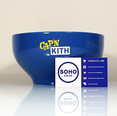 CAP'N KITH CEREAL BOWL - Captain Crunch Ronnie Fieg Treats Limited Edition 100