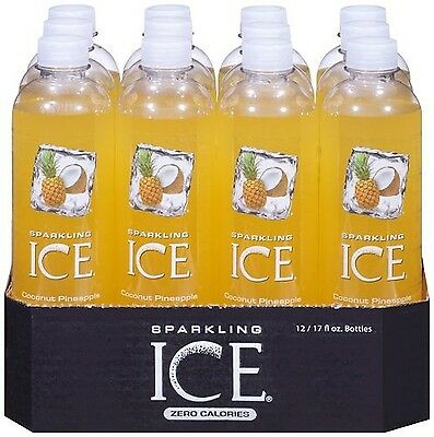 Sparkling Ice Coconut Pineapple, 17 Ounce Bottles (Pack of 12) [Fruit Flavor]NEW
