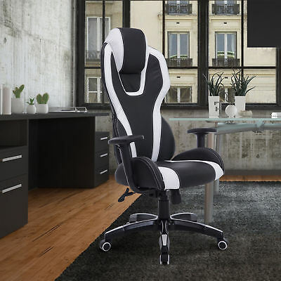 Modern Executive Office Chair Ergonomic Racing Gaming Computer Chairs 360°Swivel