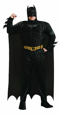 Deluxe Batman Dark Knight Muscle Chest Adult Superhero Fancy Dress Costume Party