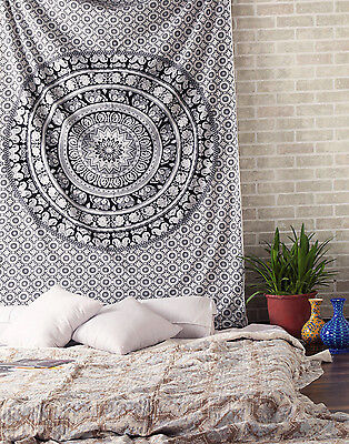 Indian Large Ombre Mandala Tapestry Wall Hanging Hippie Bedspread Bohemian 60