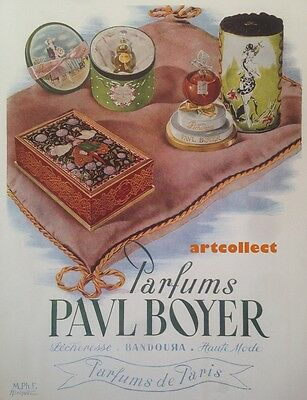 Original Vintage French Ad (1946): Paul Boyer Perfume, Paris. Fouquet Perfume.
