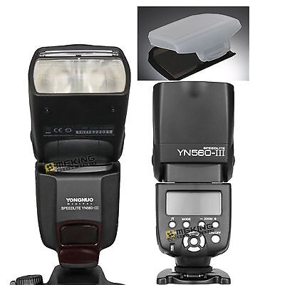 YONGNUO YN-560lll Wrieless Speedlite Flash for Nikon Canon Camera With Diffuser