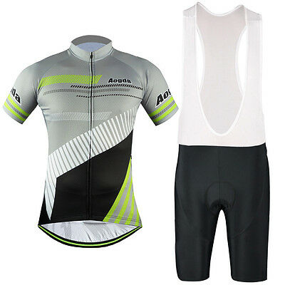Aogda Men's Cycling Set Short Sleeve Road Bike Clothing Jersey (Bib) Shorts Kit