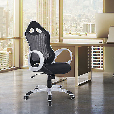 HOMCOM Office Chair High Back Recliner Adjustable 360°Swivel Executive Chairs