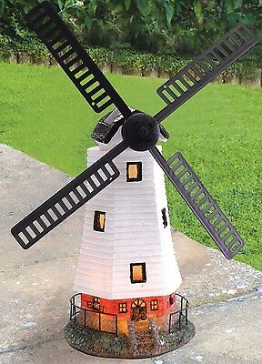 Windmill Garden Light Ornament Outdoor Patio Decoration Solar Powered LED